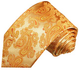 Gold Paisley Boys Tie by Paul Malone Paul Malone Ties - Paul Malone.com