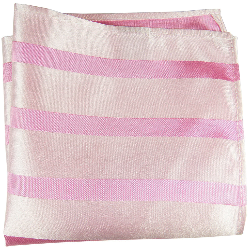 Pink Striped Silk Pocket Square Paul Malone  - Paul Malone.com