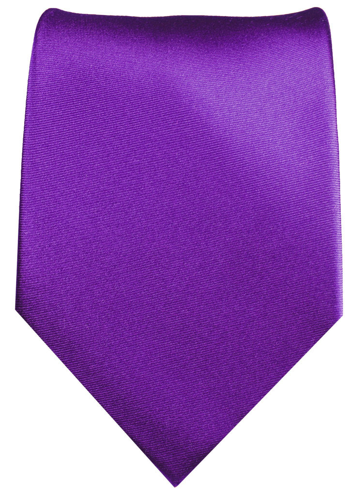 Silk Necktie Set by Paul Malone . Solid Purple