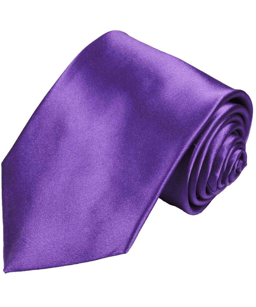 Solid Eggplant Silk Necktie Paul Malone Ties - Paul Malone.com