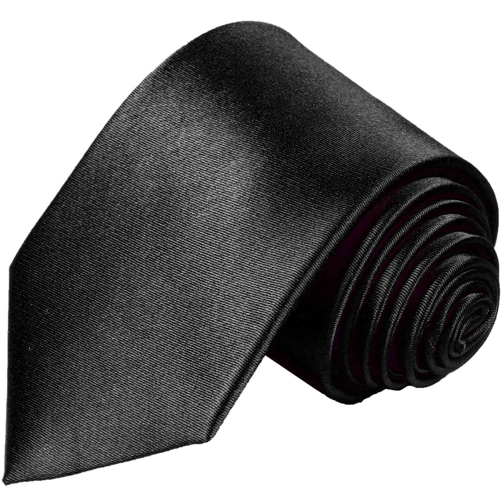 Solid Black Boys Silk Tie by Paul Malone Paul Malone Ties - Paul Malone.com
