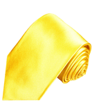 Solid Bright Yellow Silk Necktie Paul Malone Ties - Paul Malone.com