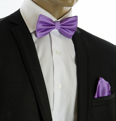 Wedding Bow Tie and Pocket Square Set in Violet $15 Ties Bow Ties - Paul Malone.com
