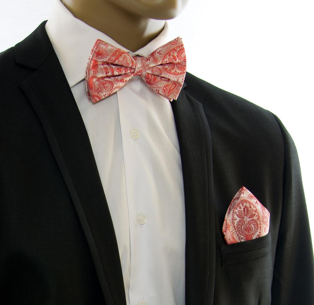 Red Paisley Silk Bow Tie Paul Malone Bow Ties - Paul Malone.com
