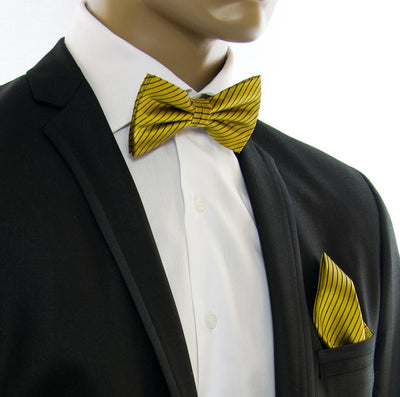 Gold and Brown Silk Bow Tie Paul Malone Bow Ties - Paul Malone.com