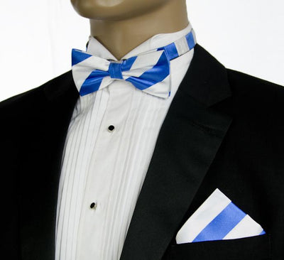 Sky Blue and White Silk Bow Tie Paul Malone Bow Ties - Paul Malone.com