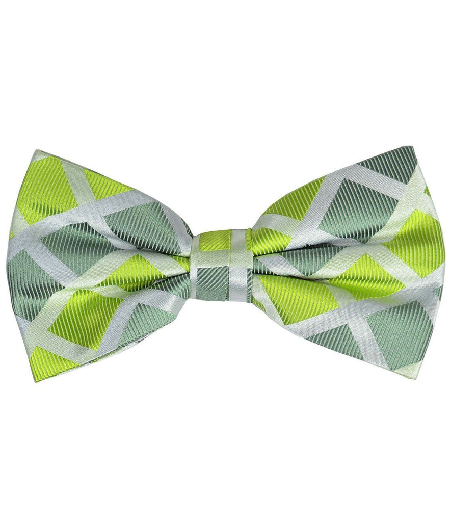Green Checkered Silk Bow Tie Paul Malone Bow Ties - Paul Malone.com