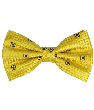 Yellow Patterned Silk Bow Tie Paul Malone Bow Ties - Paul Malone.com