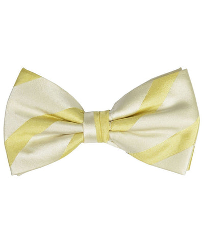 Gold Striped Silk Bow Tie Paul Malone Bow Ties - Paul Malone.com