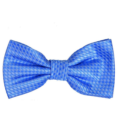 Blue Patterned Silk Bow Tie Paul Malone Bow Ties - Paul Malone.com