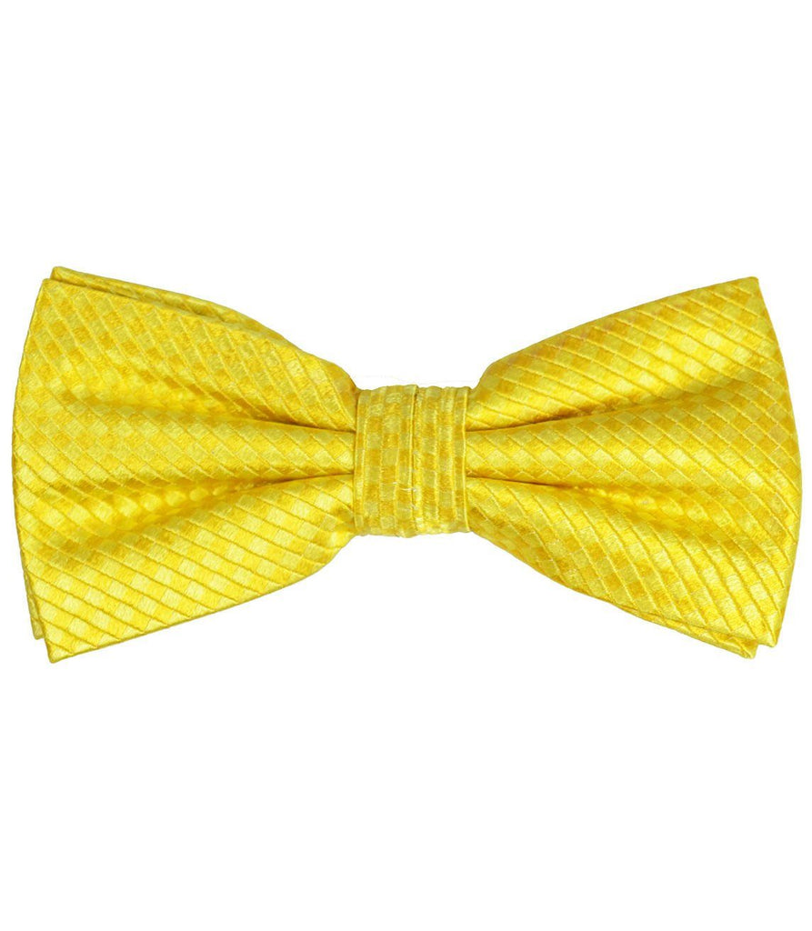 Solid Yellow Silk Bow Tie Paul Malone Bow Ties - Paul Malone.com