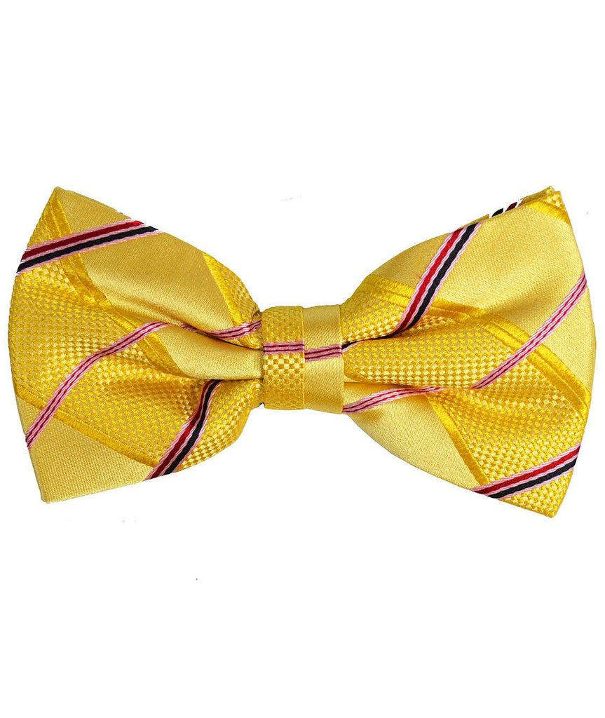Yellow and Pink Silk Bow Tie Paul Malone Bow Ties - Paul Malone.com