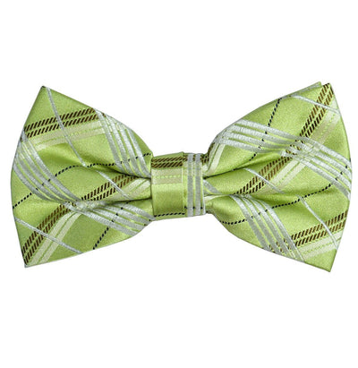 Green Plaid Silk Bow Tie Paul Malone Bow Ties - Paul Malone.com