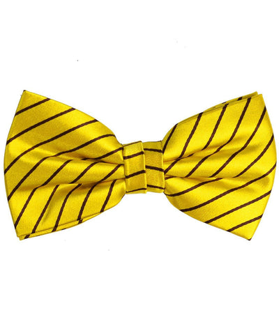 Yellow and Black Striped Silk Bow Tie Paul Malone Bow Ties - Paul Malone.com