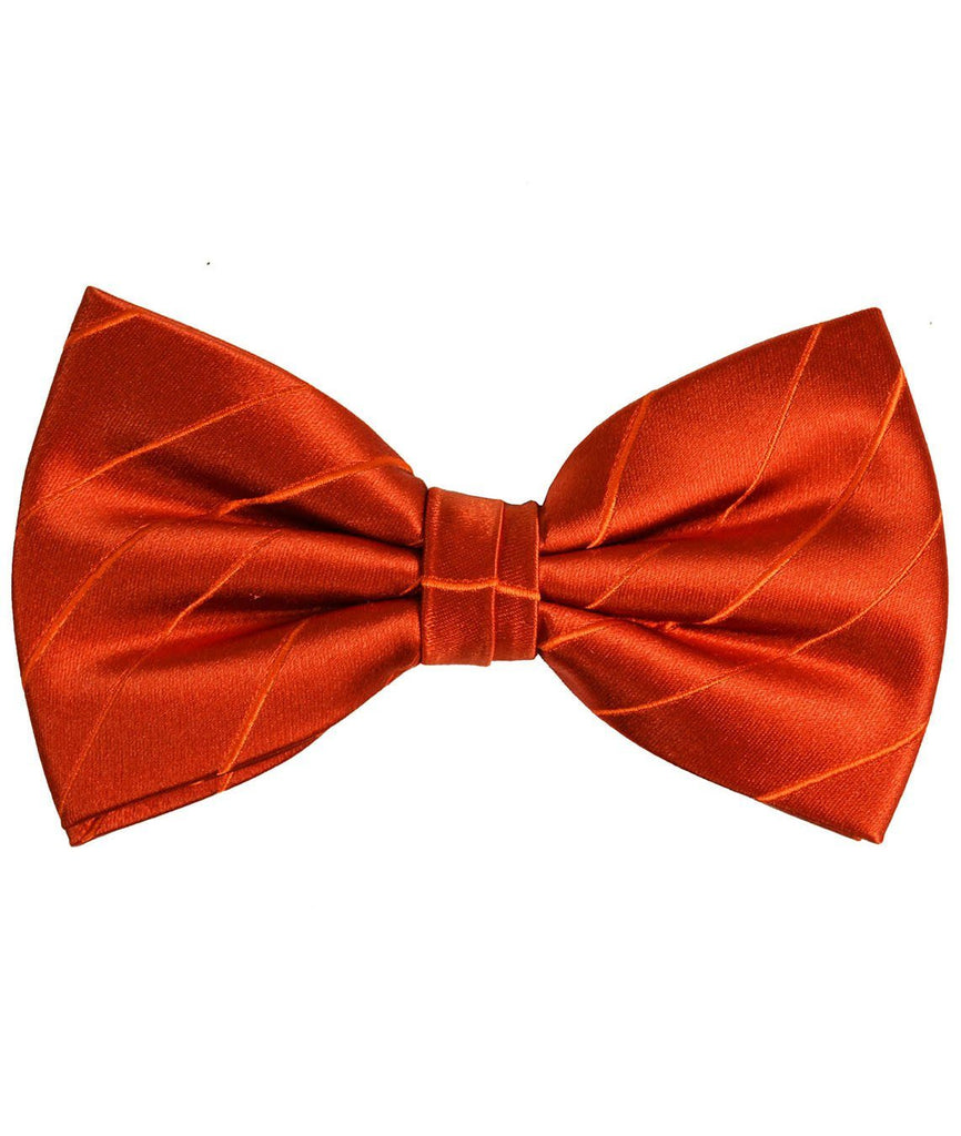 Burnt Orange Silk Bow Tie Paul Malone Bow Ties - Paul Malone.com