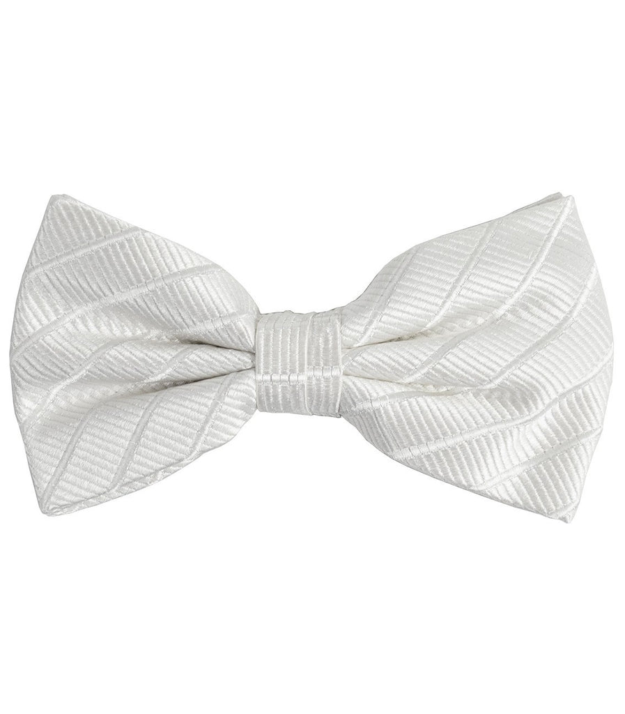 Solid White Silk Bow Tie Paul Malone Bow Ties - Paul Malone.com
