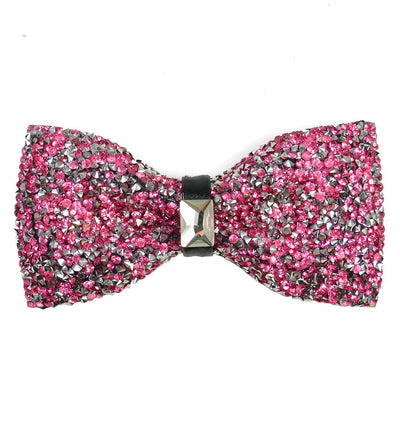 Pink Crystal Bow Tie Paul Malone Bow Ties - Paul Malone.com