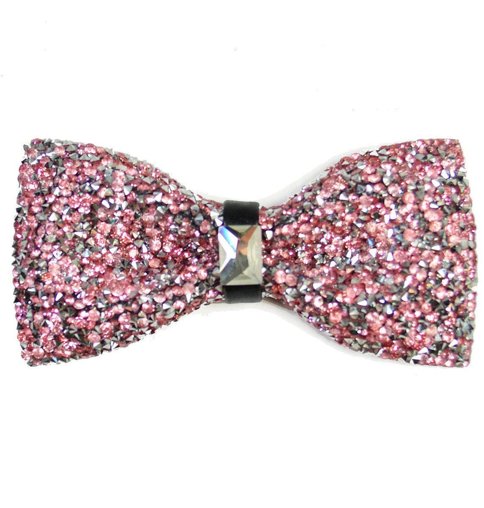 Light Pink Crystal Bow Tie Paul Malone Bow Ties - Paul Malone.com