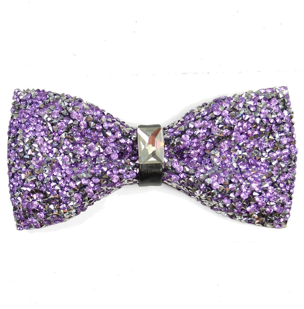 Lavender Crystal Bow Tie Paul Malone Bow Ties - Paul Malone.com