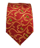 Red and Gold Paul Malone Boys Silk Tie Paul Malone Ties - Paul Malone.com