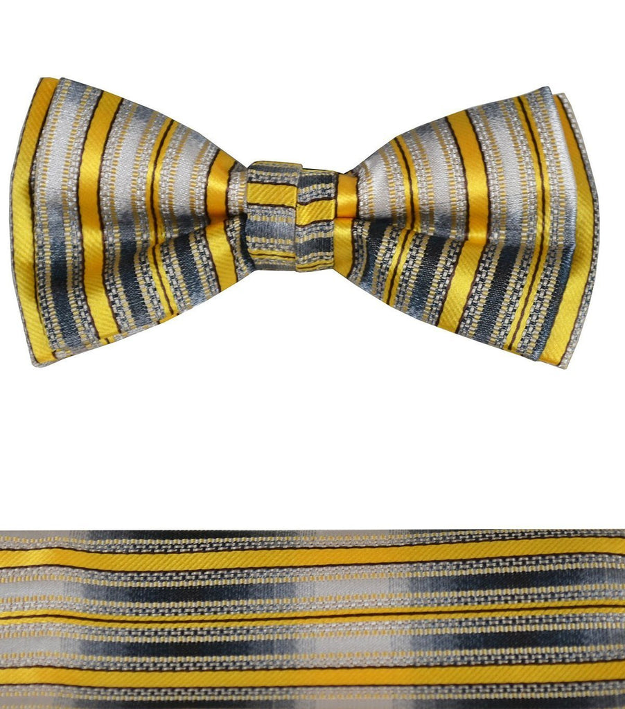 3b7d69dc7cfc Boys Bow Tie and Pocket Square Set, Pre-tied – Paul Malone