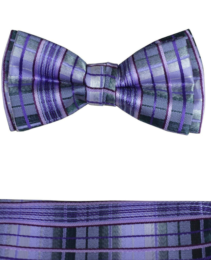 Boys Bow Tie and Pocket Square Set, Pre-tied Paul Malone Bow Tie - Paul Malone.com