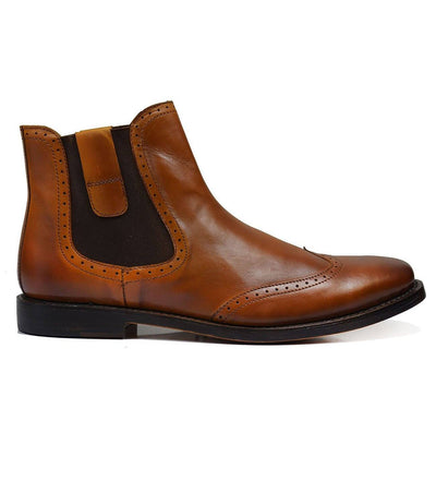 CHELSEA Elegant Brown Full Leather Chelsea Boots Paul Malone Shoes - Paul Malone.com