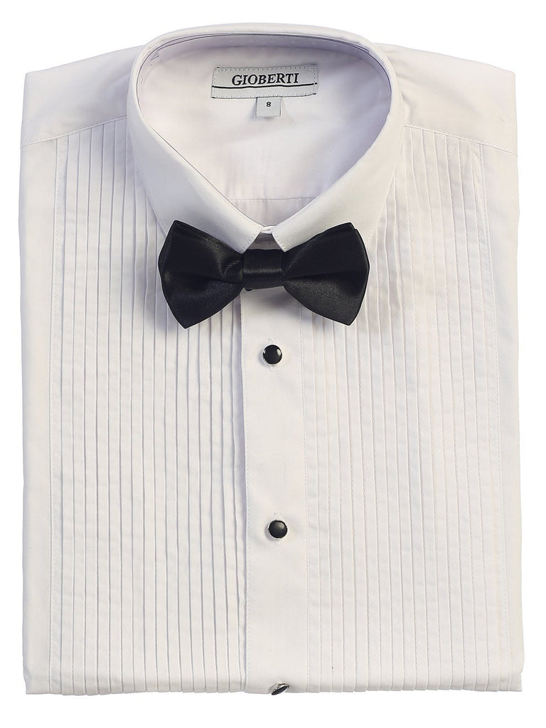 2e9abfd6379d3 White Tuxedo Boys Dress Shirt Gioberti Shirts - Paul Malone.com ...
