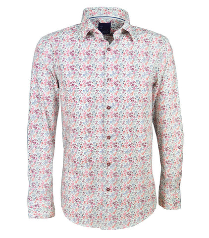 Solid White Slim Fit Men's Shirt