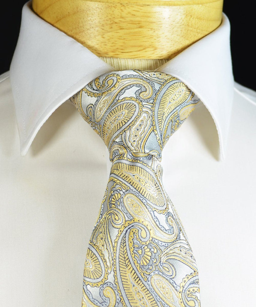 New Wheat and Grey Necktie Set Ties Paul Malone