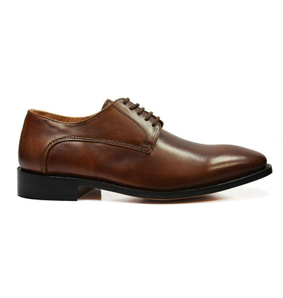 DALLAS Classic Plain Derby in Bombay Brown by Paul Malone Paul Malone Shoes - Paul Malone.com