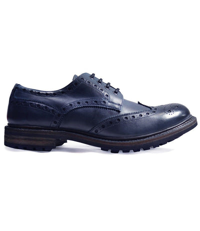 DOUGLAS Blue Heavy Cow Crust Leather Oxfords by Paul Malone Paul Malone Shoes - Paul Malone.com