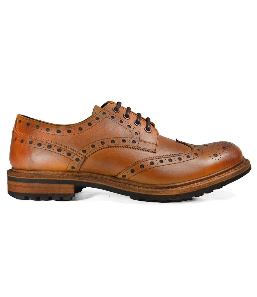 DOUGLAS Brown Cow Crust Leather Oxfords by Paul Malone Paul Malone Shoes - Paul Malone.com