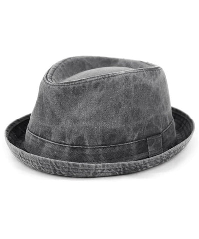 Olive Washed Cotton Fedora by Epoch Hats Co.
