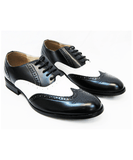 Black and White Spectators for Men Majestic Shoes - Paul Malone.com