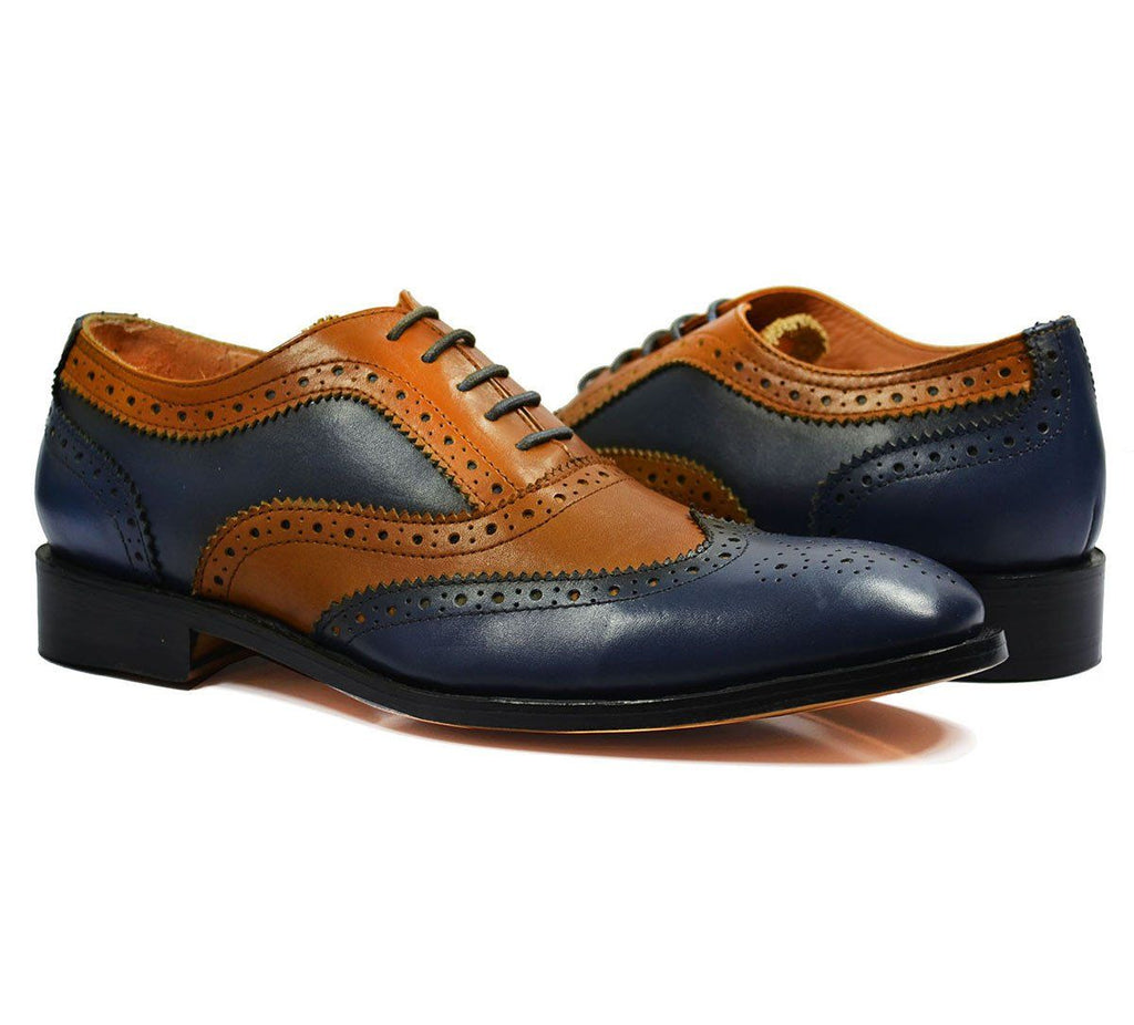 FELIX Full Leather Brogue Oxfords by Paul Malone Paul Malone Shoes - Paul Malone.com