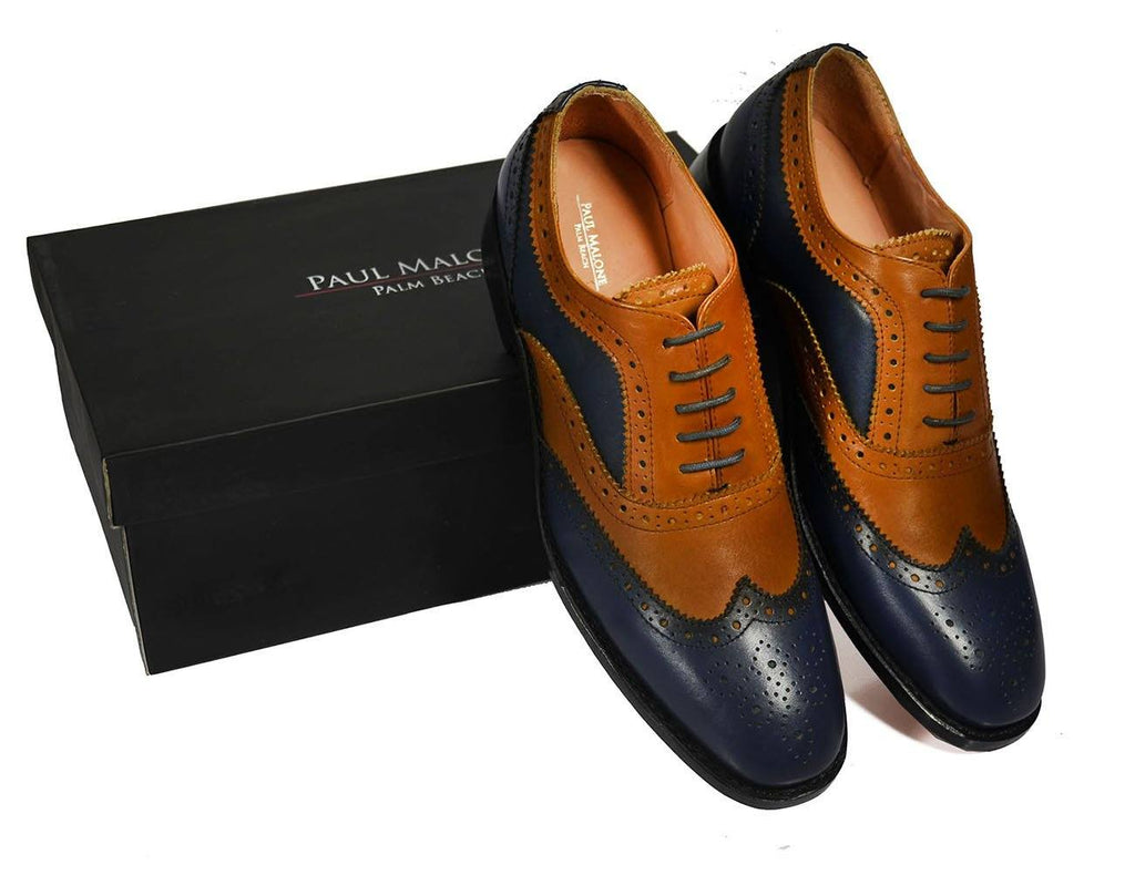 FELIX Full Leather Brogue Oxfords by Paul Malone Shoes Paul Malone