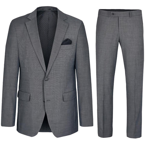 Solid Black Stretch Men's Suit
