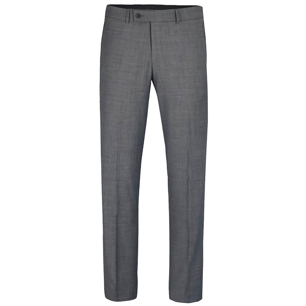 Classic Men's Suit in Solid Grey with Stretch, Wool Paul Malone Suits - Paul Malone.com