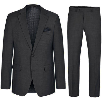 Classic Men's Suit in Charcoal with Stretch, Wool Paul Malone Suits - Paul Malone.com