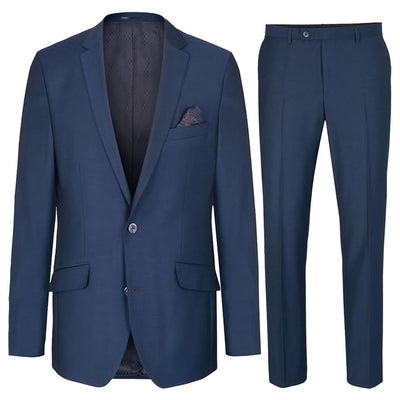Modern Fit Royal Blue Mens Suit, Wool Paul Malone Suits - Paul Malone.com