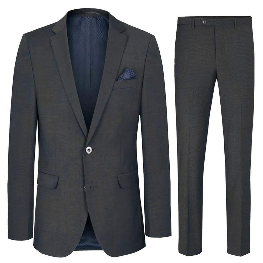 Slim Fit Charcoal Men's Suit with Pick Stitch Paul Malone Suits - Paul Malone.com