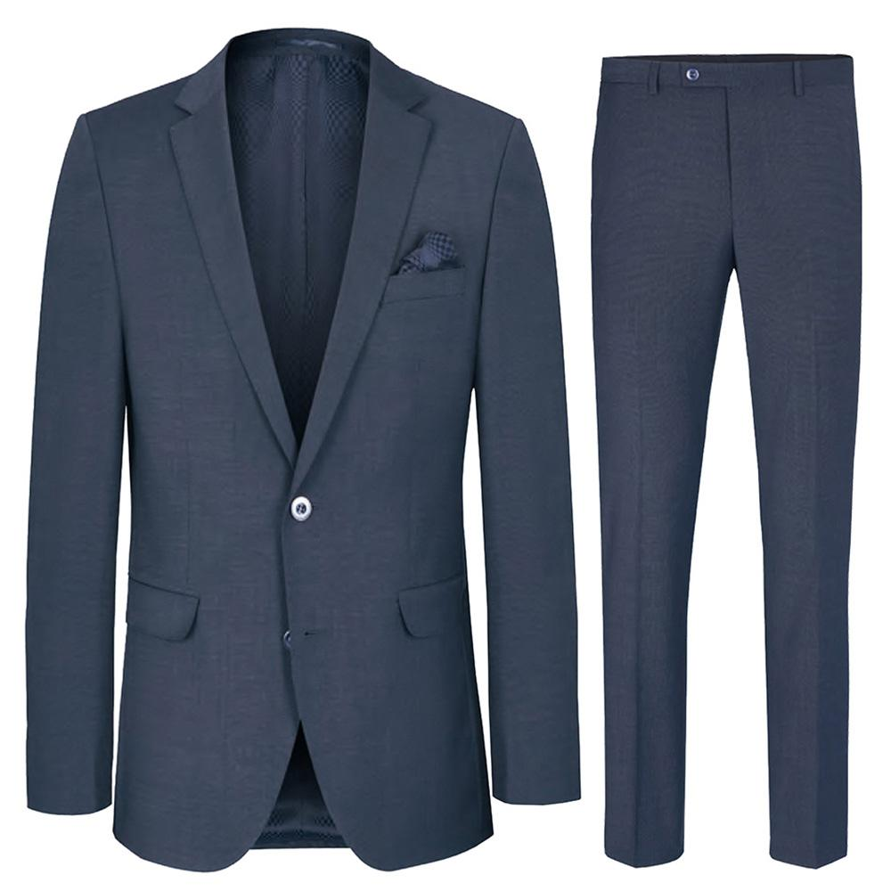 Slim Fit Navy Blue Men's Suit with Pick Stitch Paul Malone Suits - Paul Malone.com