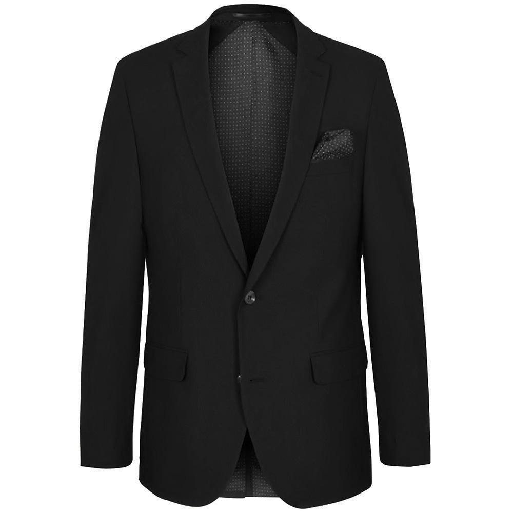 Solid Black Stretch Men's Suit Paul Malone Suits - Paul Malone.com