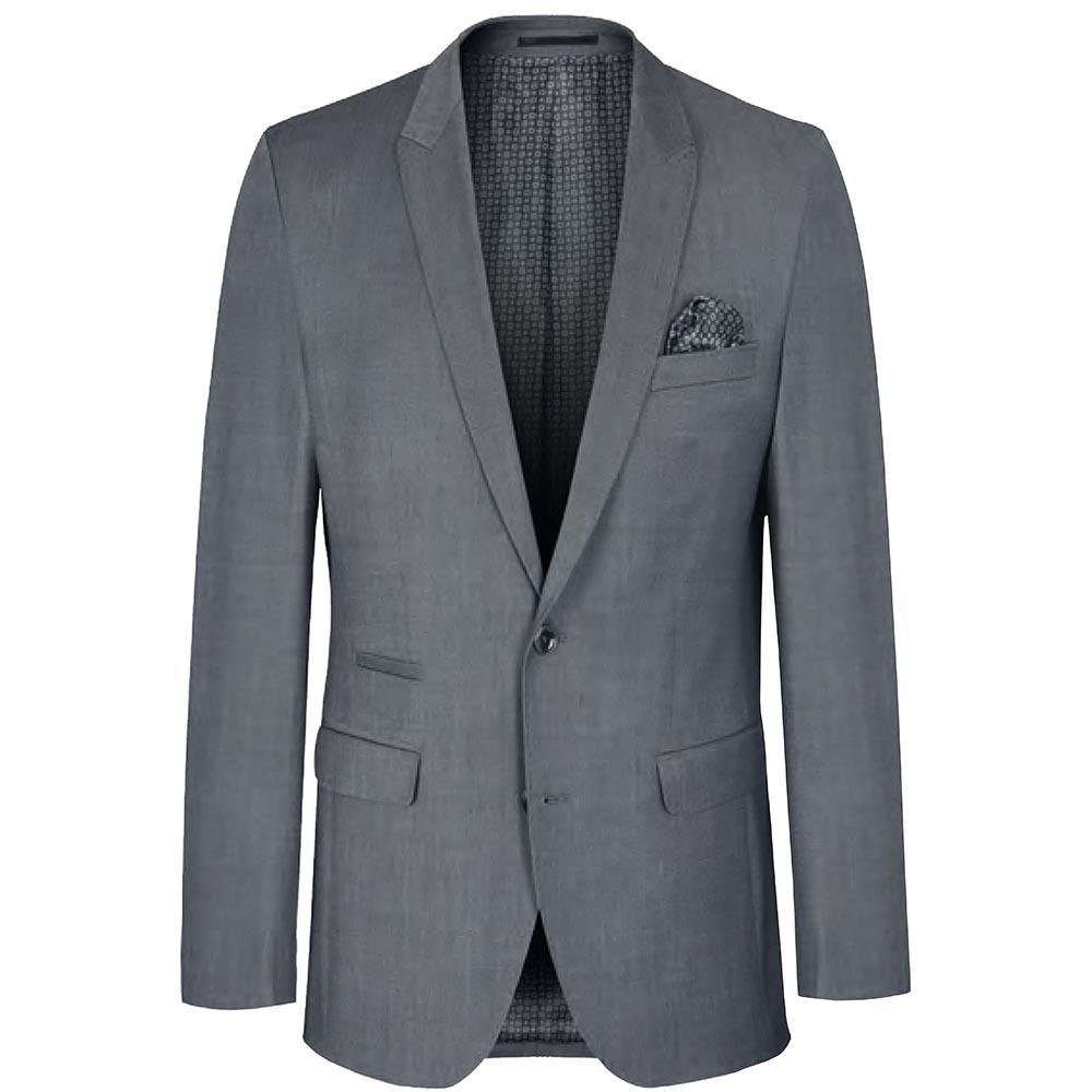 Solid Light Grey Stretch Men's Suit Paul Malone Suits - Paul Malone.com
