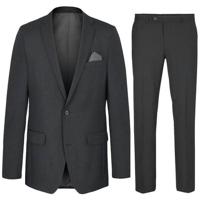 Modern Fit Charcoal Mens Suit, Wool Paul Malone Suits - Paul Malone.com