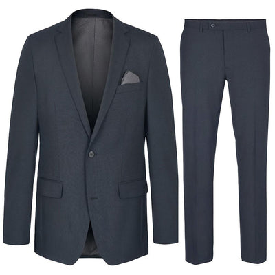 Modern Fit dark Navy Mens Suit, Wool Paul Malone Suits - Paul Malone.com