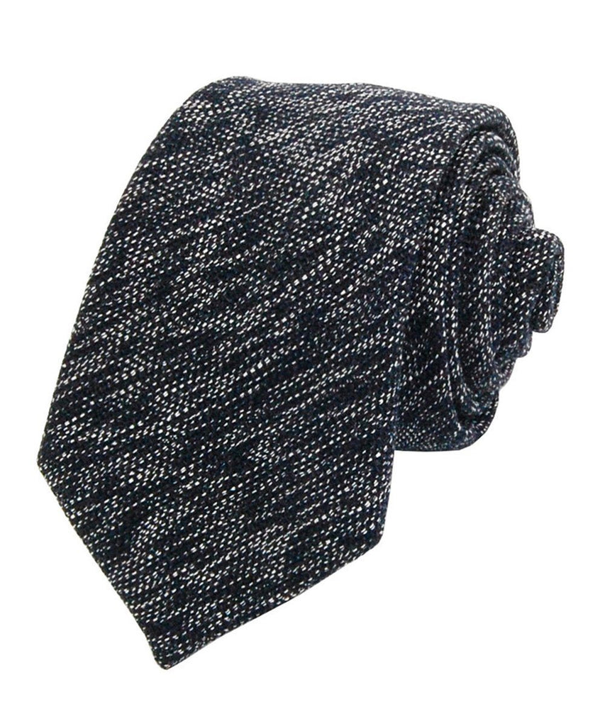 Blue Nights Patterned Cotton Necktie Paul Malone Ties - Paul Malone.com