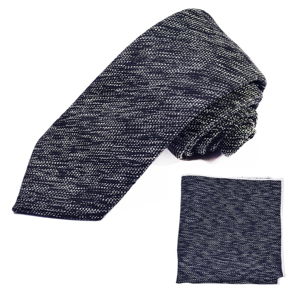 Navy Blue Cotton Tie Set by Paul Malone Paul Malone Ties - Paul Malone.com