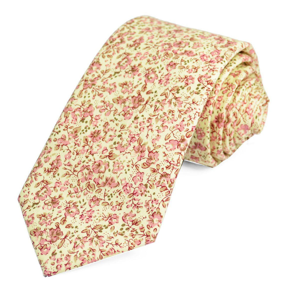 Cashmere Rose Cotton Tie Set by Paul Malone